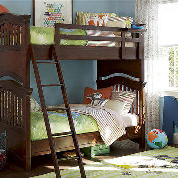 Kelvin Cherry Twin over Twin Bunk Bed