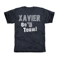Xavier Musketeers Cheering Section Tri-Blend T-Shirt - Navy Blue
