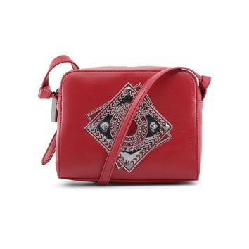 Versace Jeans Red Leather Clutch Bag