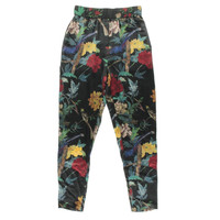 Alice + Olivia Womens Silk Floral Print Casual Pants