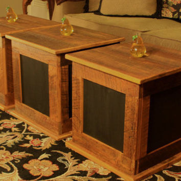 Storage Cube Coffee Table Rustic / by natureinspiredcrafts on Etsy