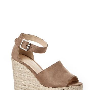 Belize Braided Taupe Wedge