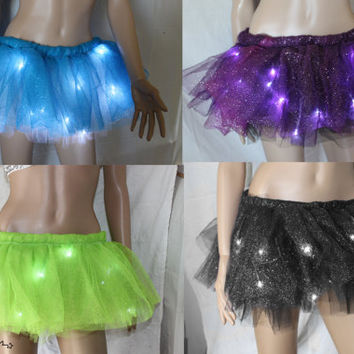 Sparkle LED Light up Tutu Skirt  -Custom Choose Your Color (made to order)