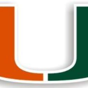 "Miami Hurricanes 12"" Car Magnet"