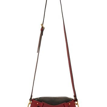 Fleet Ilya Ssense Exclusive Black And Merlot Leather Triangle Piece Bag