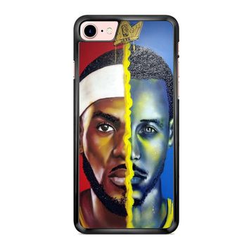 Lebron James Vs Steph Curry Painting iPhone 7 Case