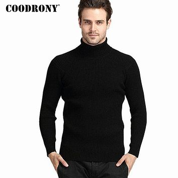 Mens Winter Thick Warm 100% Cashmere Sweater Turtleneck Sweaters Slim Fit Pullover Knitwear