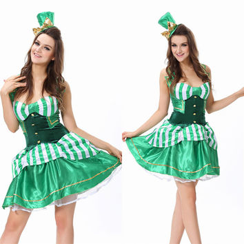 Magician Green Cosplay Anime Cosplay Apparel Holloween Costume [9220291972]