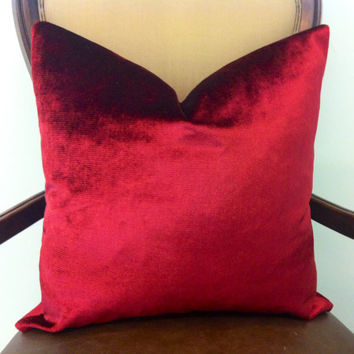Vine Red Velvet Pillow Cover, Red Pillows, Red Pillow, Same, Red velvet Sofa Pillows, Couch Throw Pillow, Red Velvet Pillow Cushion Covers