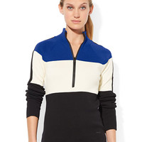 Lauren Ralph Lauren Striped Mockneck Sweater