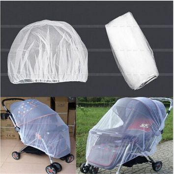 Urijk Summer Safe Baby Kids Stroller Mosquito Net Pram Protector Baby Carriage Pushchair Fly Insect Bug Cover Bed Mesh Crib Nets