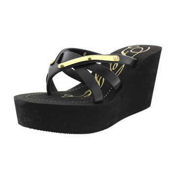 Fergie Womens Embellished Slip On Platforms