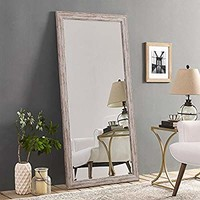 Naomi Home Rustic Floor Mirror White
