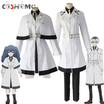 Coshome Tokyo Ghoul Kaneki Ken Cosplay Costumes Men Windbreaker Re Yonebayashi Saiko White Outfit Full Set For Halloween Party