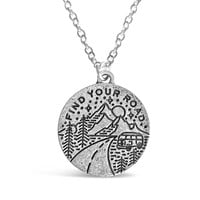 Find Your Road Necklace