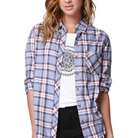 LA Hearts Boyfriend Button Up Shirt