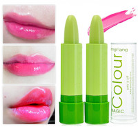 2Pcs Natural Moisturizer Lip Balm Waterproof Lips Care Fruit Change Color Makeup Tools Beauty Lipblam Lip Smacker