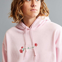 Power Of Rose Embroidered Hoodie Sweatshirt | Urban Outfitters