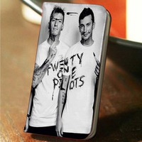Twenty one Pilots custom wallet case for iphone 4,4s,5,5s,5c,6 and samsung galaxy s3,s4,s5