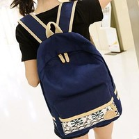 Canvas Backpack Casual Travel Bag [6582194823]