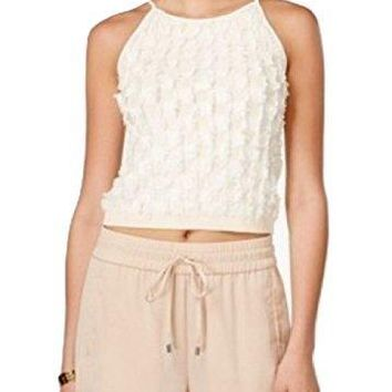 Bar III Womens Knit Fringe Tank Top