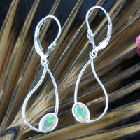 Welo Opal Sterling Silver Earrings