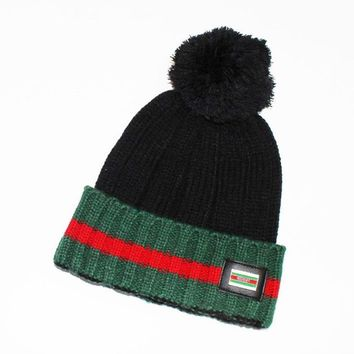 GUCCI Fashion Winter Knit Women Men Beanies Hat Cap