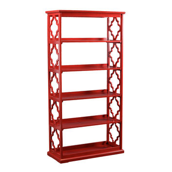 Powell Turner Bookcase Red