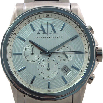 armani exchange - ax2058 silver stainless steel quartz watch