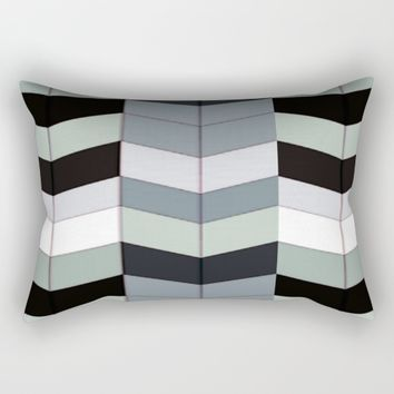 Geometric Stacks Rectangular Pillow by lillianhibiscus