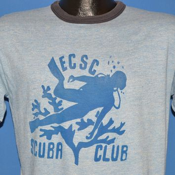 70s ECSC Scuba Club Ringer t-shirt Medium