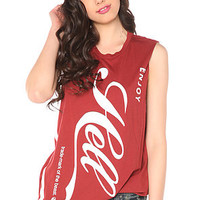 Cult The Enjoy Hell Boyfriend Muscle Tee in Red : Karmaloop.com - Global Concrete Culture