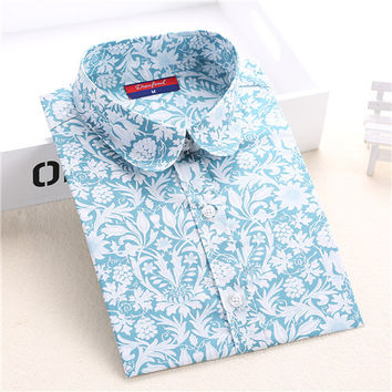Brand New Long Sleeve Cotton Floral Shirts