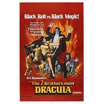 7 Brothers Meet Dracula The Movie poster Metal Sign Wall Art 8in x 12in