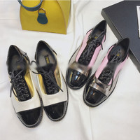 Buy Crystella Panel Patent Oxfords | YesStyle