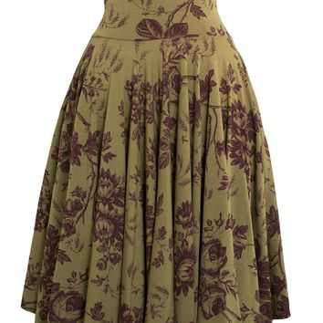 Delighted Skirt in Garden Print
