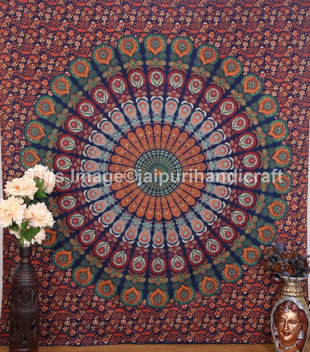 Psychedelic Mandala Hippie Large from Amazon