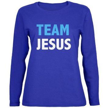 ICIK8UT Team Jesus Womens Long Sleeve T Shirt