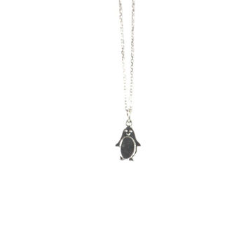 Sterling Silver Cute Penguin Necklace