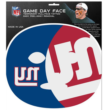 New York Giants Game Face Temporary Tattoo FGFD090