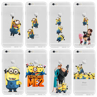 2015 New Fashion Despicable Me Yellow Minion Design Case cover For iphone 6 4.7 inch Free Shipping