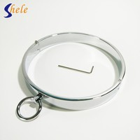 Removable Steel Slave Collars For Couples Toy Neck Restraints Bondage Sex Tools Adult Sex Products BDSM Sex Toys For Women Flirt