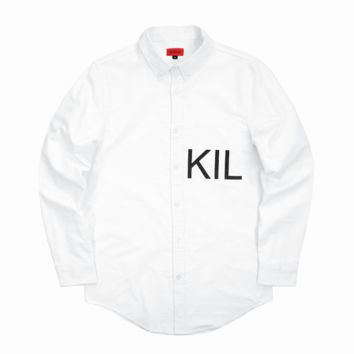 KIL Oxford Button Down - White