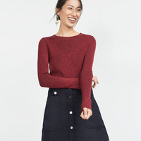 FLARED SKIRT WITH FRONT BUTTONS
