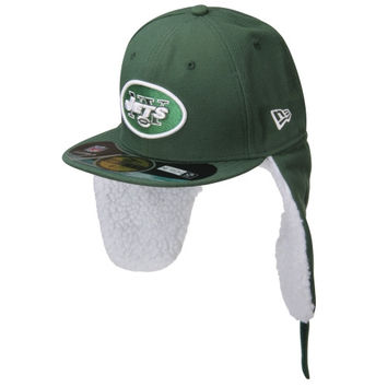 New Era New York Jets Youth On Field Dog Ear 59FIFTY Structured Fitted Hat - http://www.shareasale.com/m-pr.cfm?merchantID=7124&userID=1042934&productID=547698532 / New York Jets