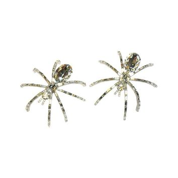 Pre-owned Butler and Wilson Large Crystal Spider Brooch Pair