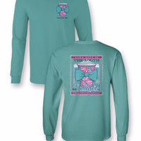 Sassy Frass Comfort Colors Football Tailgate Harder then Your Team Plays Bow Long Sleeve Bright Girlie T Shirt
