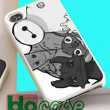 Baymax Groot Stitch Toothless For Iphone 4/4s, iPhone 5/5s, iPhone 5C, iphone 6, and iPhone 6 Plus Case