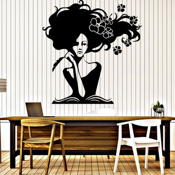 Large Wall Vinyl Decal Romantic Image Woman Writer Book Home Interior Decor n971
