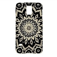 Mandala Samsung Galaxy S5 Case, Mandala Samsung Galaxy Case Hard White Plastic Cover Unique (samsung galaxy s5) (samsung galaxy s5.617)